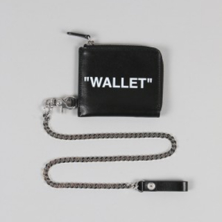 オフホワイト(OFF-WHITE)のOff-White QUOTE CHAIN WALLET(長財布)