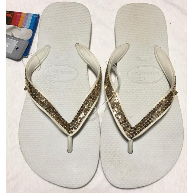 havaianas(ハワイアナス)の★havaianas ゴールドメッシュビーチサンダル★ レディースの靴/シューズ(ビーチサンダル)の商品写真