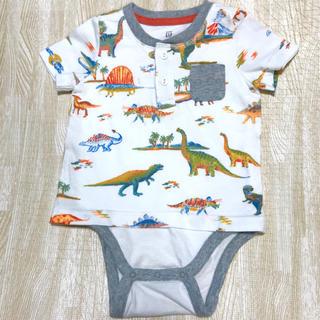 ベビーギャップ(babyGAP)のGAP 半袖ロンパース ベビー服 春 夏 赤ちゃん お洋服 ギャップ 半袖 白(ロンパース)