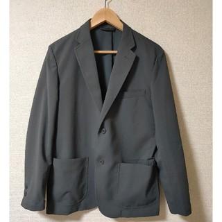 ムジルシリョウヒン(MUJI (無印良品))の乾きやすいストレッチポリエステルジャケット Mサイズ グレー(テーラードジャケット)