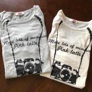 ピンクラテ(PINK-latte)のピンクラテ 長袖Tシャツ 2枚セット 160  S(Tシャツ(長袖/七分))