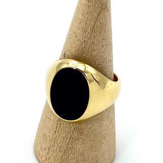 ティファニー(Tiffany & Co.)の極希少 未使用 ティファニー ゴールド オニキス リング メンズ HE13(リング(指輪))