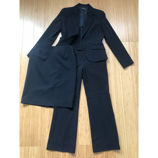 スーツ レディース 3点セット 9号 黒(スーツ)