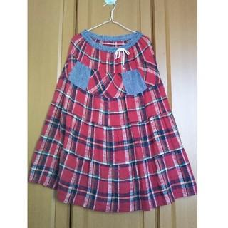 キューブシュガー(CUBE SUGAR)のCUBE SUGAR☆チェックスカート(ロングスカート)