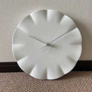 フランフラン(Francfranc)のLemnos レムノス キフク Kifuku 掛け時計 陶器 ホワイト 白(掛時計/柱時計)