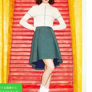 パメオポーズ(PAMEO POSE)のパメオポーズ/2015プレフォール/ツートーンスカート/グリーン(ひざ丈スカート)