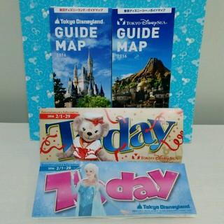 ディズニー(Disney)の2月最新のTodayとガイドマップ (キャラクターグッズ)