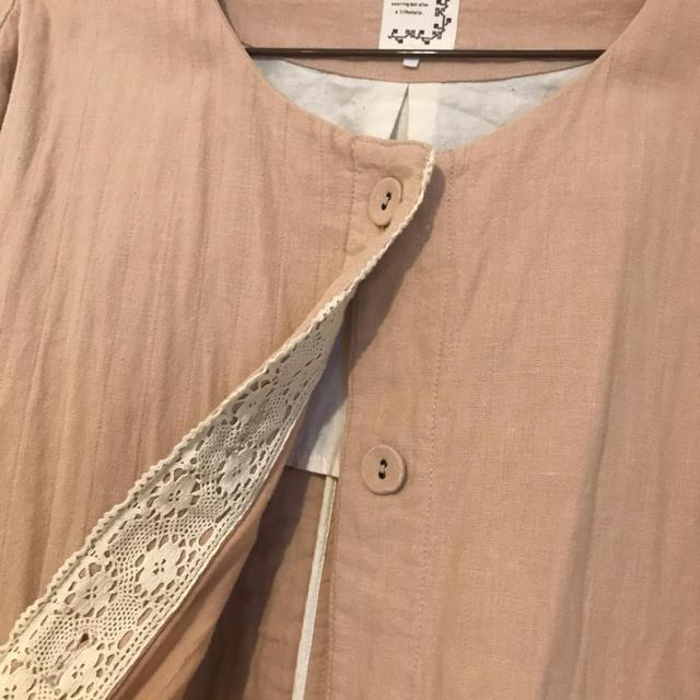 SM2(サマンサモスモス)の綿麻ノーカラージャケット レディースのジャケット/アウター(ノーカラージャケット)の商品写真