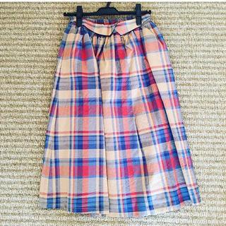 サマンサモスモス(SM2)のエヘカソポ キャンバスチェックスカート(ひざ丈スカート)
