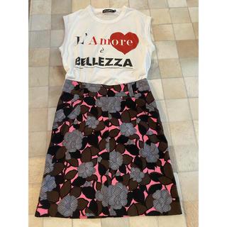 ドルチェアンドガッバーナ(DOLCE&GABBANA)のドルチェアンドガッパーナ♡ピンクスカート(ひざ丈スカート)