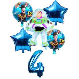 ディズニー(Disney)のバースデー バルーン 誕生日 飾りつけ 4歳 セット バズ トイストーリー(ガーランド)