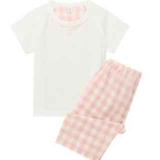 ムジルシリョウヒン(MUJI (無印良品))の無印良品 涼感半袖パジャマ 90-100 ピンク ベビー(パジャマ)