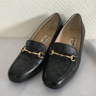 セリーヌ(celine)の美品本物セリーヌCELINE本革レザー金具パンプスローファービジネスシューズ靴(ローファー/革靴)