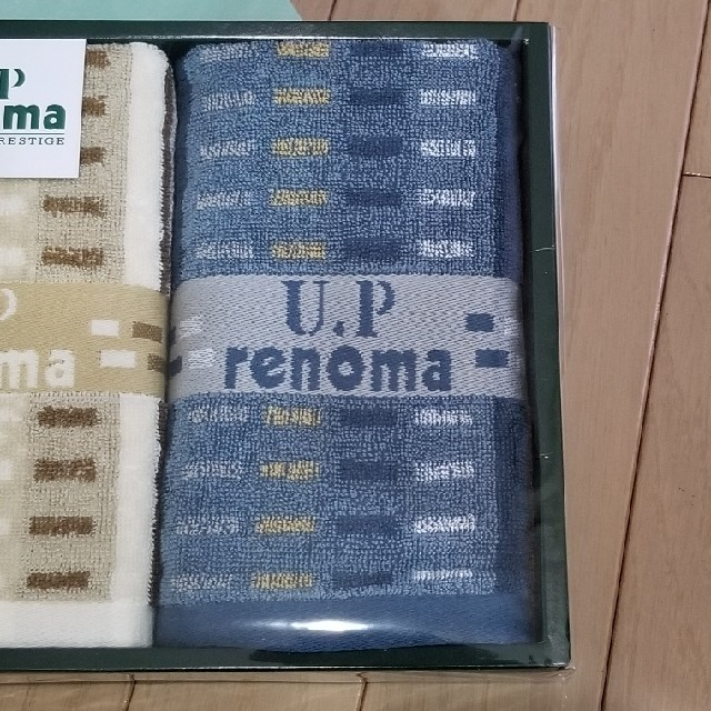 U.P renoma(ユーピーレノマ)のrenoma フェイスタオル2枚セット インテリア/住まい/日用品の日用品/生活雑貨/旅行(タオル/バス用品)の商品写真