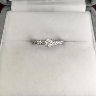 ダイヤモンド リング K18WG 0.31ct 0.193ct 1.8g(リング(指輪))