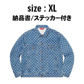 シュプリーム(Supreme)の[XL] Hole Punch Denim Trucker Jacket(Gジャン/デニムジャケット)