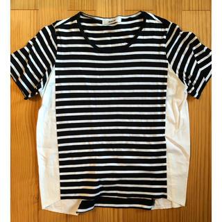 アミウ(AMIW)のAMIW ボーダーカットソー(Tシャツ/カットソー(半袖/袖なし))
