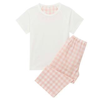 ムジルシリョウヒン(MUJI (無印良品))の無印良品 涼感半袖パジャマ 140-150 ピンク(パジャマ)