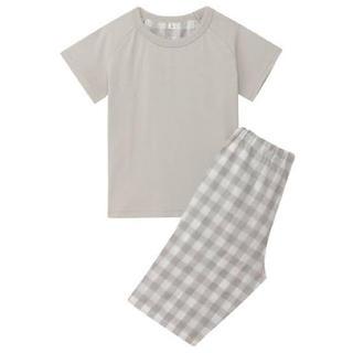 ムジルシリョウヒン(MUJI (無印良品))の無印良品 涼感半袖パジャマ 100-110 グレー(パジャマ)