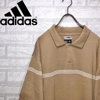 アディダス(adidas)の古着 アディダス ポロシャツ スリーブライン ビッグサイズ アースカラー L(ポロシャツ)
