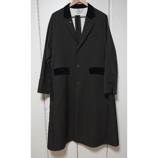 サンシー(SUNSEA)のSUNSEA polyys wool coat  Ash Brown(チェスターコート)
