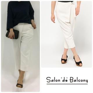 サロンドバルコニー(Salon de Balcony)の新品未使用 ♡ サロン ド バルコニー ♡ ストライプパンツ(クロップドパンツ)