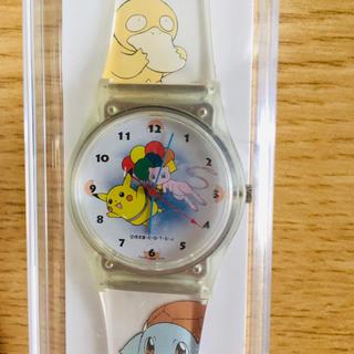 ポケモン(ポケモン)の未使用品ANAポケモン腕時計(ピカチューミュウ)取扱説明書ケース付き(キャラクターグッズ)