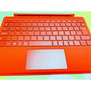 マイクロソフト(Microsoft)の美品 マイクロソフト 【純正】 Surface Pro用 タイプカバー レッド(PC周辺機器)