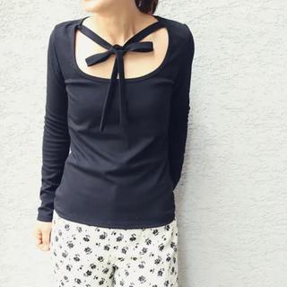 エディットフォールル(EDIT.FOR LULU)の【新品タグ付き】edit for lulu リボン付きカットソー(Tシャツ(長袖/七分))