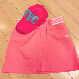 パーリーゲイツ(PEARLY GATES)のキャップ 帽子 美品 日除け スポーツ ゴルフ アウトドア キャンプ ピンク水色(キャップ)