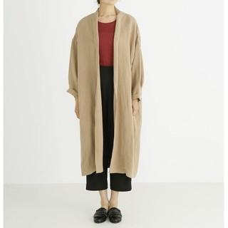 Munich ミューニックlinen rayon shawl collar (ガウンコート)