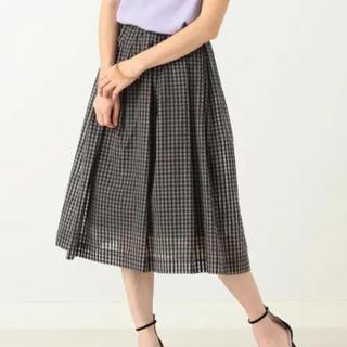 デミルクスビームス(Demi-Luxe BEAMS)のDemi-Luxe BEAMS ギンガムチェック スカート(ひざ丈スカート)