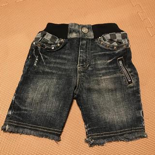 子供服 ズボン デニム風 2枚セット(パンツ/スパッツ)