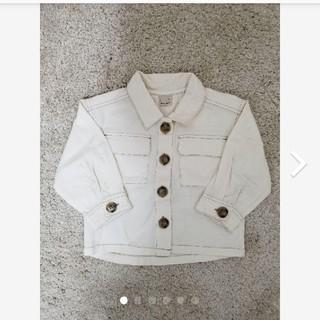 petit main - プティマイン CPOジャケット(男女兼用)アイボリー アウター 羽織