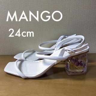 マンゴ(MANGO)のMANGO マンゴー サンダル 白(サンダル)