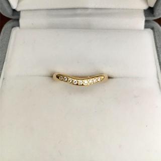 ティファニー(Tiffany & Co.)のティファニー 9p ダイヤモンド カーブド バンドリング K18YG 2.3g(リング(指輪))