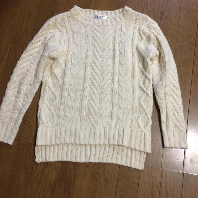 riana ざっくりニット ホワイト メンズのトップス(ニット/セーター)の商品写真