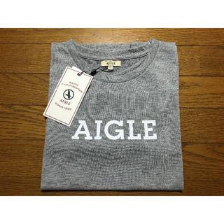 エーグル(AIGLE)の新品 エーグル Tシャツ 長袖 ロゴ入り(Tシャツ(長袖/七分))