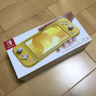ニンテンドースイッチ(Nintendo Switch)のNintendo Switch lite スイッチライト イエロー 新品未使用(家庭用ゲーム機本体)