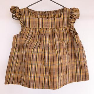 ジーユー(GU)のキッズ チェックトップス チュニック(Tシャツ/カットソー)