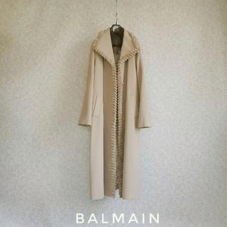 バルマン(BALMAIN)の超高級 バルマン 一級品リアルファーコート 豪華エレガントオーバーサイズデザイン(毛皮/ファーコート)