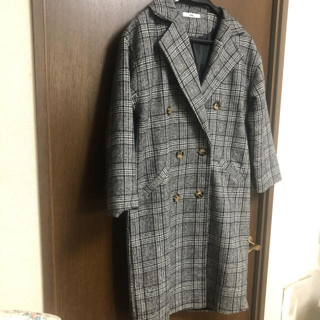 GRL(グレイル)の6月末!プライス⭐︎【GRL】グレーチェックロングダブルチェスターコート レディースのジャケット/アウター(ロングコート)の商品写真