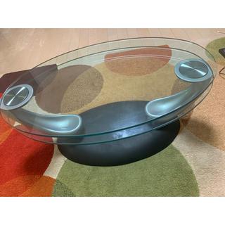 スライドガラステーブル(ローテーブル)