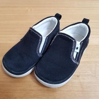プティマイン(petit main)のプティマイン 黒 靴 15センチ 記名なし(スニーカー)