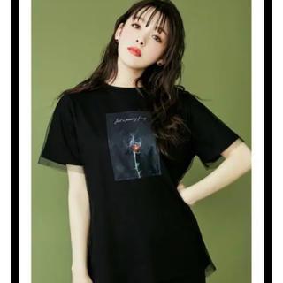 イートミー(EATME)のEATME チュールラッピンググラフィックTシャツ (Tシャツ(半袖/袖なし))
