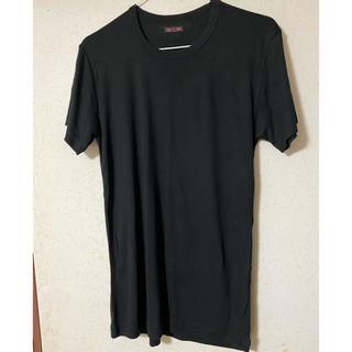 サーモス(THERMOS)の美品❣️THERMO FIBERメンズクールネックTシャツ・黒 M  (Tシャツ/カットソー(半袖/袖なし))