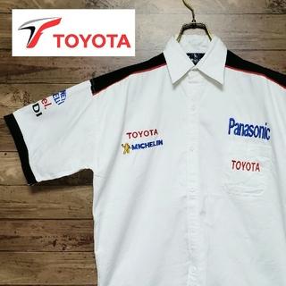 トヨタ(トヨタ)のTOYOTA Panasonic F1 レーシングシャツ スポンサ 刺繍ロゴ(シャツ)