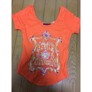 アビラピンク(AVIRA PINK)のアビラピンクTシャツ オレンジTシャツ キラキラストーンTシャツ(Tシャツ(半袖/袖なし))