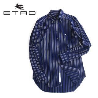 エトロ(ETRO)の美品★ETRO エトロ 胸刺繍入り ストライプBDシャツ(シャツ)