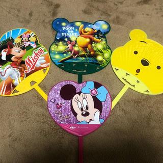 ディズニー(Disney)のディズニーうちわ 4枚セット(キッズ/ファミリー)